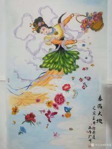徐景莲国画作品《春满大地》价格1000.00元