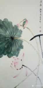张清永国画作品《荷花-清趣》价格300.00元