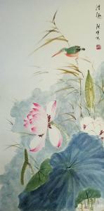 张清永国画作品《荷花-清趣2》价格300.00元