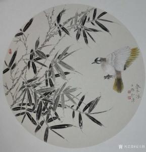 安士胜国画作品《工笔花鸟-春半深》价格3000.00元
