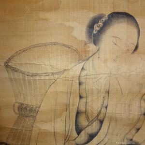 15668627599国画作品-《王素,仕女图》