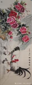 韩仁(国家一级美术师)国画作品《吉祥富贵》价格800.00元