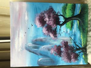 13262588865油画作品-《风景油画》