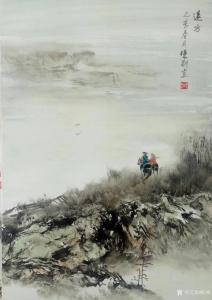陈刚油画《油画山水画-远方》