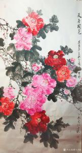 赵习恒国画作品《牡丹》价格1800.00元