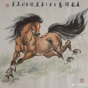 刘建国国画作品-《马-春风得意》