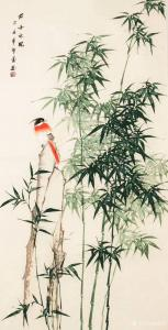 嵇境雷国画作品-《竹-君子之风-许墨》