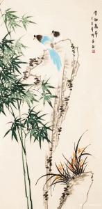 嵇境雷国画作品-《竹-清劲高节-许墨》