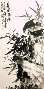 任清宇国画《兰-春风满林》