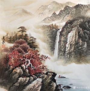 宁建华国画作品《山水-秋》价格700.00元