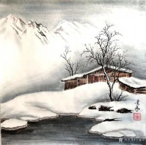 宁建华国画作品《山水-冬》价格700.00元
