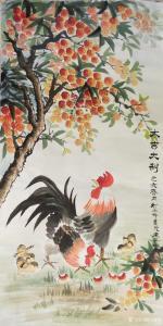 宁建华国画作品《鸡-大吉大利》价格1000.00元