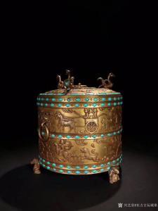 东方古玩城堡文玩杂项作品《铜鎏金带盖凤凰钮香炉》议价