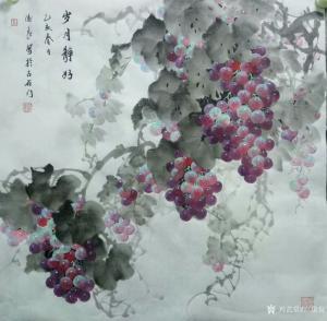 卢俊良国画作品《葡萄—岁月静好》价格1000.00元