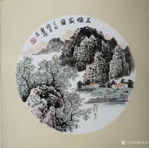 陈庆明国画作品-《美顺家园》