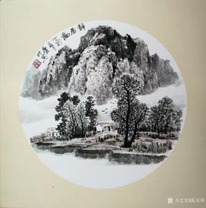 陈庆明国画作品-《静居图》