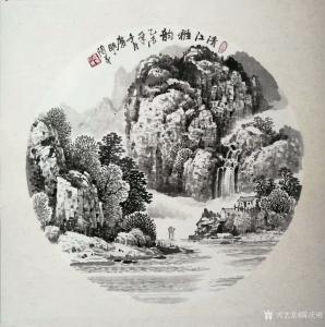 陈庆明国画作品-《山水-清江雅韵》