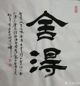 胡宝成书法作品《舍得—有舍才有得》价格300.00元