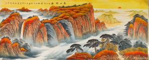 刘慧敏国画作品《泰山神韵》价格1200.00元
