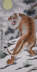 马新荣国画作品《虎啸山林》价格1000.00元