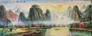 宁建华国画作品《山水-漓江风光》价格1200.00元