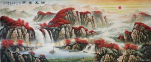 宁建华国画作品《山水-鸿运当头》价格1800.00元
