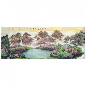陈新义国画作品《桃花依旧笑春风》价格57600.00元
