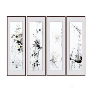 成晓燕国画作品《梅兰竹菊》价格2000.00元