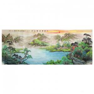 陈新义国画作品《人家多处碧水湾》价格57600.00元