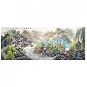 陈新义国画作品《山村晓韵》价格57600.00元