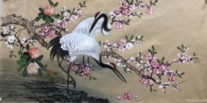 艺术品图片:艺术家石海博国画作品名称《仙鹤瑞鹤呈祥》价格800.00 元