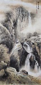 王元国画作品《云台秀峰》价格2000.00元