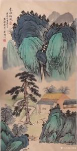 刘慧敏国画《山水—文社松风》