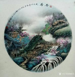周顺生国画作品《团扇春居图》价格800.00元