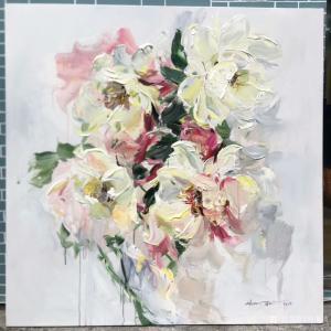 周海波油画作品《北欧风格花卉1》价格800.00元