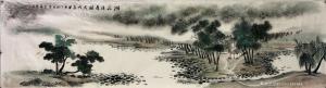 15363151193国画作品-《湖庄清夏图》