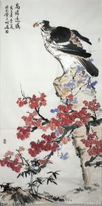 王君永国画作品《鹰—高瞻远瞩》价格500.00元