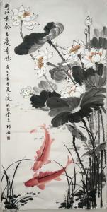王君永国画作品《时和景泰,吉庆有余》价格500.00元