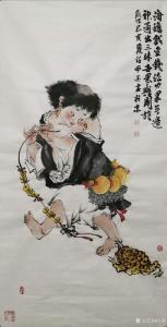 任燕国画作品《刘海戏金蟾》议价