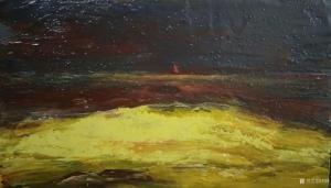 刘烽油画作品-《孤舟》