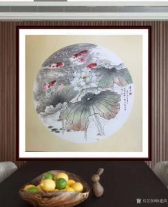 徐建清国画作品《花鸟画—鱼乐图》价格6000.00元