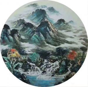 吴朝阳国画作品《山水画世外桃源夏》议价