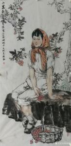 赵国毅国画《山里红-小兴安岭所见》