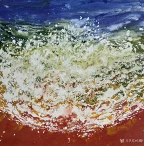 刘烽油画作品-《早潮》