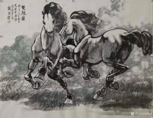 刘明礼国画作品《双骏图》议价
