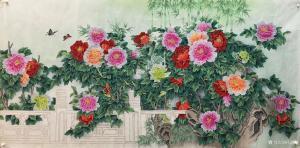 石海博国画作品《花鸟画-花开富贵3》价格3000.00元