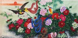 石海博国画作品《花鸟画-花开富贵4》价格3000.00元