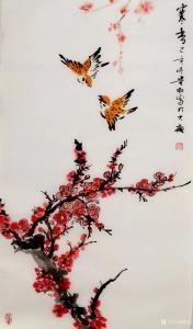 夏沁国画《寒香》