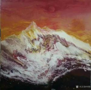 刘烽油画作品-《红日》