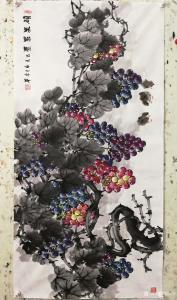 韩宗华国画作品《葡萄~硕果累累》价格4000.00元